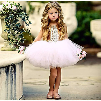 billiga Babykläder-Bebis Flickor Grundläggande Dagligen Enfärgad Ärmlös Normal Normal Bomull Klänning Svart