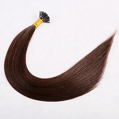 povoljno Ekstenzije od ljudske kose-1 paket Brazilska kosa Ravan kroj Virgin kosa Produžetak 18 inch Zlatna Smeđa Isprepliće ljudske kose proširenje Woven Prirodno Proširenja ljudske kose