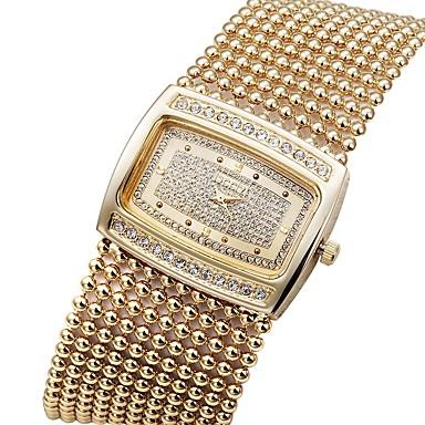 levne Dámské-ASJ Dámské Hodinky k šatům zlaté hodinky japonština Křemenný Měď Bílá / Zlatá Hodinky na běžné nošení Analogové Luxus Elegantní - Zlatá Stříbrná / Maxell SR626SW + CR2025