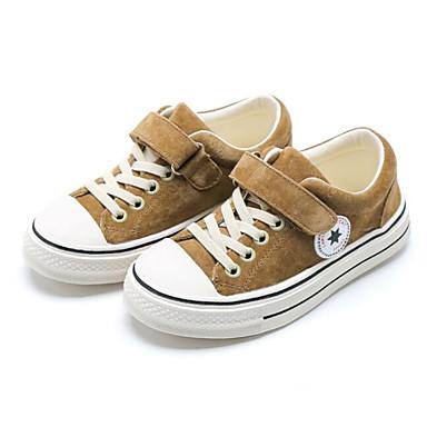 voordelige Babyschoenentjes-Meisjes Comfortabel Varkensleer Sneakers Peuter (9m-4ys) / Little Kids (4-7ys) Zwart / Khaki Lente & Herfst