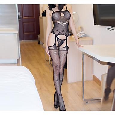 preiswerte Modische Unterwäsche-Damen Spitze Strumpfbänder & Hosenträger Nachtwäsche Solide Schwarz Einheitsgröße