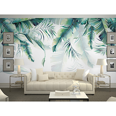 Wallpaper / Mural Canvas Wall Covering   Adhesive Required Art Deco / Trees  / Leaves / 3D 7120157 2019 U2013 $75.99
