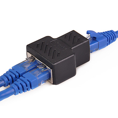 cheap Cables & Adapters-1 To 2 Ways LAN Ethernet Network Cable RJ45 to RJ45 Adapter Female - Female Splitter Connector Adapter