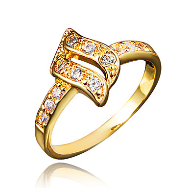billige Motering-Dame Ring Løftering Kubisk Zirkonium 1pc Gull Sølv 18K Gullbelagt Fuskediamant Statement Stilfull Romantikk Fest Engasjement Smykker Klassisk