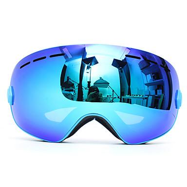 billige Motorsykkel & ATV tilbehør-profesjonell ski motorsykkel snowboard ski briller anti tåke uv dobbel linse blå