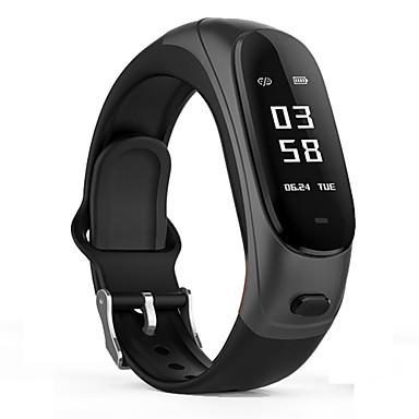 v08s smart armbånd armbånd bluetooth øretelefon / musikk hodesett hjertefrekvens blodtrykk stemme vekkerklokke søk telefon