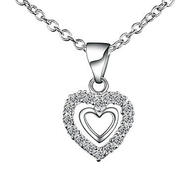 c5e7505c7c88 ... Collares de cadena Collar Plateado Corazón Simple Básico Romántico Moda  Bonito Boda Plata 46 cm Gargantillas Joyas 1pc Para Regalo 7135020 2019 –   7.99