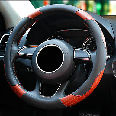 voordelige Auto-interieur accessoires-stuurwielen van microfiber leer voor vier seizoenen voor alle universele modellen