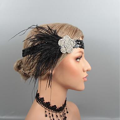 povoljno Oprema za zabavu-Perje Trake za kosu / Headpiece s Štras / Kristal / Perje 1 kom. Vjenčanje / Zabava / večer Glava