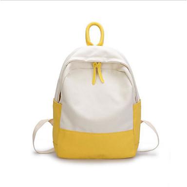 preiswerte Schultaschen-Segeltuch Reißverschluss Schultasche Schultaschen Grün / Rosa / Gelb