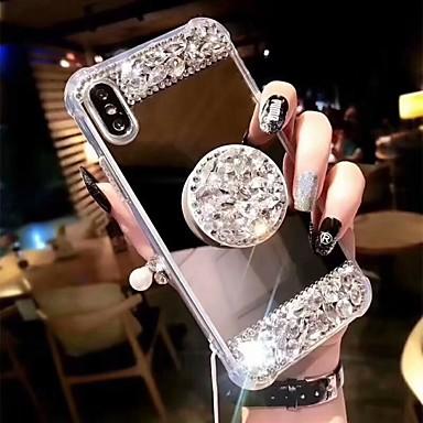 povoljno iPhone maske-Θήκη Za Apple iPhone XS / iPhone XR / iPhone XS Max Otporno na trešnju / sa stalkom Stražnja maska Umjetno drago kamenje Tvrdo Opeka