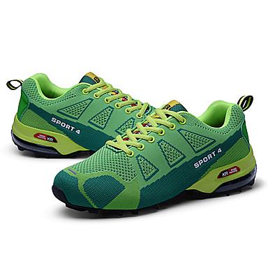 preiswerte Schuhe und Taschen-Herrn Komfort Schuhe Leder Frühling / Herbst Sportschuhe Wandern Grün / Gelb / Rot / Sportlich