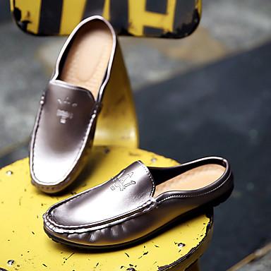 preiswerte Shoes Trends-Herrn Komfort Schuhe PU Sommer Cloggs & Pantoletten Schwarz / Gold / Orange