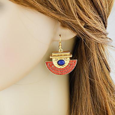 levne Dámské šperky-Dámské Visací náušnice Geometrické stylové Geometrik Náušnice Šperky Červená Pro Denní Rande 1 Pair