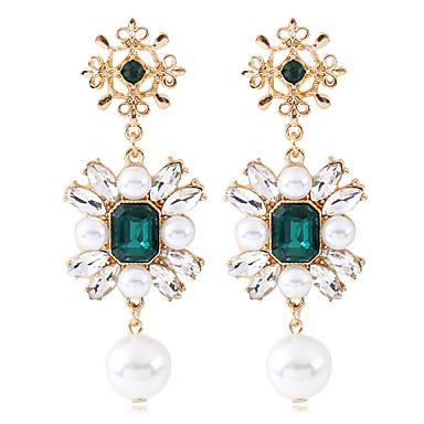 preiswerte Chandelier Ohrringe-Damen Tropfen-Ohrringe Stilvoll Künstliche Perle Ohrringe Schmuck Gold Für Hochzeit Verlobung 1 Paar
