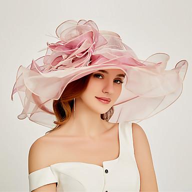 povoljno Party pokrivala za glavu-Organza Kentucky Derby Hat / Fascinators / Šešir s U slojevima 1 komad Zabava / večer / Poslovni / Svečano / Vjenčanje Glava