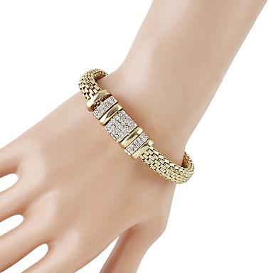 levne Dámské šperky-Dámské Řetězové & Ploché Náramky Silný řetězec Bahtův řetěz Moderní Módní Štras Náramek šperky Zlatá Pro Denní Rande