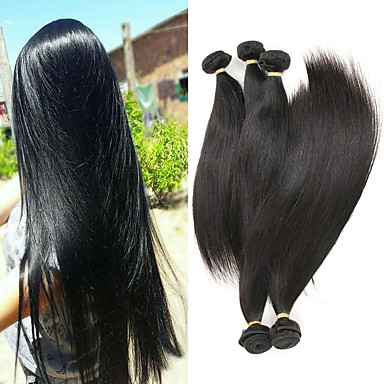 povoljno Ekstenzije od ljudske kose-5 paketića Brazilska kosa Ravan kroj Remy kosa Ekstenzije od ljudske kose 8-26 inch Isprepliće ljudske kose Nježno Najbolja kvaliteta Novi Dolazak Proširenja ljudske kose