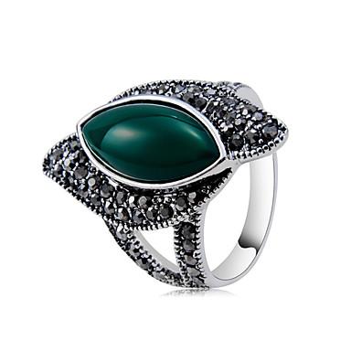 levne Dámské šperky-Dámské Prsten Nefritově zelená 1ks Tmavě šedá Měď Postříbřené Umělé diamanty Jedinečný design Moderní Rokové Párty Večerní oslava Šperky Cool