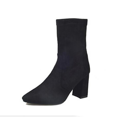 1a13ec842 [$27.99] Women's Suede Fall & Winter Boots Chunky Heel Booties / Ankle  Boots Black