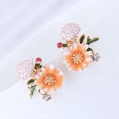 povoljno Modne naušnice-Žene Sitne naušnice Cvijet Europska slatko Moda Naušnice Jewelry žuta / Bijela / Pink Za Dnevno Spoj 1 par