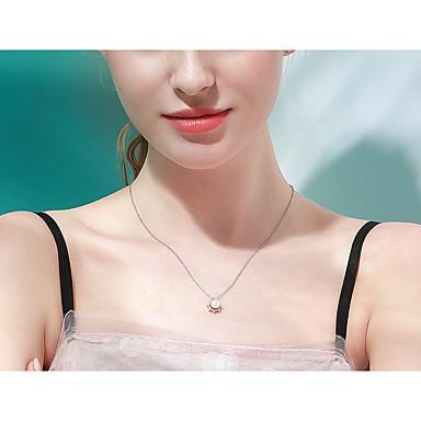 levne Dámské šperky-Dámské Sladkovodní perla Náhrdelník Small Perly S925 Sterling Silver Bílá 40+3 cm Náhrdelníky Šperky 1ks Pro Narozeniny Miláček