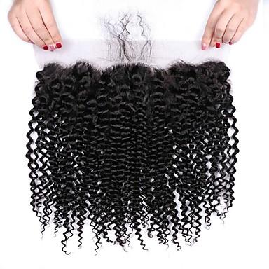 povoljno Ekstenzije od ljudske kose-1 paket Brazilska kosa Kinky Curly Virgin kosa Wig Accessories Kosa potke zatvaranje 8-20 inch Prirodna boja Isprepliće ljudske kose Kreativan Stres i anksioznost reljef Novi Dolazak Proširenja