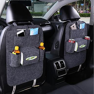billige Interiørtilbehør til bilen-auto bil baksete oppbevaringspose arrangør søppel nett holder multi-lomme reisehenger for automatisk kapasitet posebeholder 1 stk