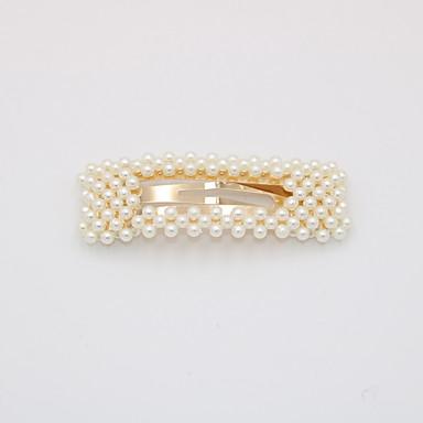levne Dámské šperky-Dámské Party Aktivní Cute Style Napodobenina perel Slitina Vlasové kouzlo Jednobarevné