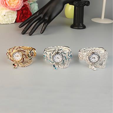 povoljno Sat prsten-FEIS Žene Narukvica Pogledajte Kvarc Srebro / Zlatna Kreativan Analogni-digitalni Moda - Pink Red Sky blue
