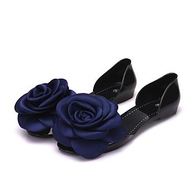 levne Dámské boty s plochou podrážkou-Dámské PVC Léto Bez podpatku Rovná podrážka Černá / Fialová / Modrá