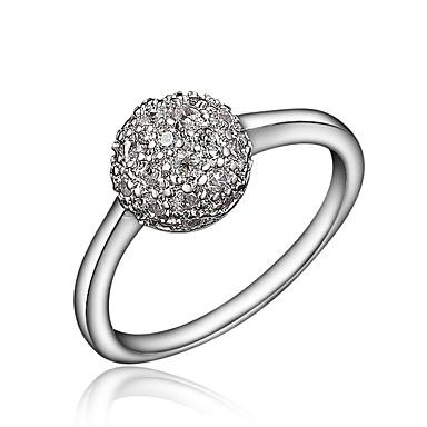 billige Motering-Dame Ring Micro Pave Ring Kubisk Zirkonium 1pc Gull Sølv 18K Gullbelagt Fuskediamant Stilfull Luksus Romantikk Fest Engasjement Smykker Klassisk Ball Smuk