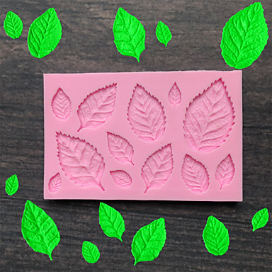 cheap Baking & Pastry Tools-Leaf Silicone Mold Fondant Mold Cake Decorating Tools Chocolate Mold Baking Mold