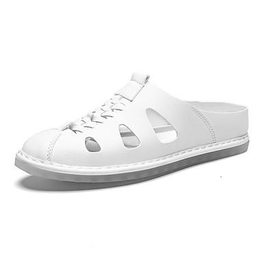 Ανδρικά Παπούτσια άνεσης PU Καλοκαίρι / Ανοιξη καλοκαίρι Καθημερινό Σαμπό & Mules Αναπνέει Μαύρο / Λευκό / Κίτρινο