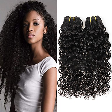 povoljno Ekstenzije od ljudske kose-6 paketića Brazilska kosa Water Wave Virgin kosa Ljudske kose plete Bundle kose Jedan Pack Solution 8-28inch Prirodna boja Isprepliće ljudske kose Sladak Modni dizajn Dar Proširenja ljudske kose