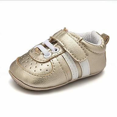voordelige Babyschoenentjes-Meisjes Eerste schoentjes PU Sneakers Peuter (9m-4ys) zwart / wit / Wit / zilver / Wit  / Geel Lente