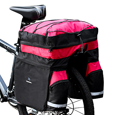 2568597869 ROSWHEEL 60 L Kufr na kola   Brašna na koš Brašny pod košík 3 v 1  Voděodolný Odolné vůči dešti Cyklistická taška 600D Ripstop Taška na kolo  Taška na kolo ...