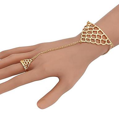 Dam Kedje & Länk Armband geometriska damer Unik design Fest Mode Legering Armband Smycken Guld Till Party Gåva Valentine Cosplay Kostymer/Dräkter