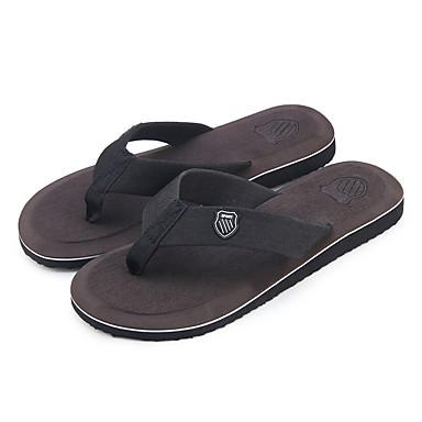 cheap Men's Slippers & Flip-Flops-Men's Comfort Shoes Canvas Summer Slippers & Flip-Flops Black / Green / Camel