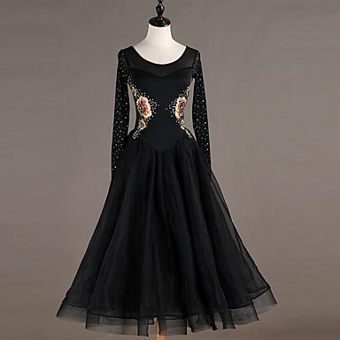 b04eae4fde Ballroom Dance Dresses Women s Training Nylon   Organza   Tulle Crystals    Rhinestones Long Sleeve High Dress 7147658 2019 –  99.99