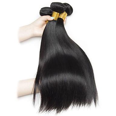 povoljno Ekstenzije od ljudske kose-4 paketića Brazilska kosa Ravan kroj Remy kosa Ljudske kose plete Produžetak Bundle kose 8-28inch Prirodna boja Isprepliće ljudske kose Život Cosplay Kreativan Proširenja ljudske kose / neprerađenih