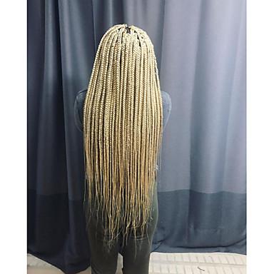 Prednja perika od sintetičkog čipke pletena Stepenasta frizura Lace Front Perika Dug Blonde Sintentička kosa 24 inch Žene Žene Bijela Sylvia