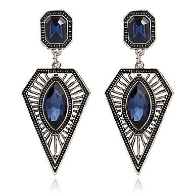 povoljno Modne naušnice-Žene Sintetički akvamarin Viseće naušnice Stilski Naušnice Jewelry Navy Plava Za Dnevno 1 par
