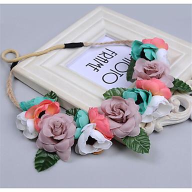 levne Dámské šperky-Dámské dámy Vintage Cute Style Elegantní Peří Látka Diadémy Svatební Večírek - Květinový