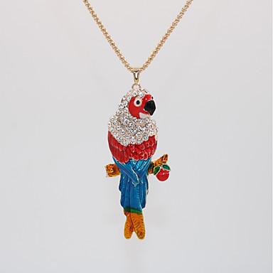 levne Dámské šperky-Dámské Náhrdelníky s přívěšky Prohlášení Náhrdelníky Náhrdelník Klasika Parrot Zvíře Jedinečný design Klasické Vintage Moderní Chrome Růže pozlacená Duhová 70 cm Náhrdelníky Šperky 1ks Pro Karneval