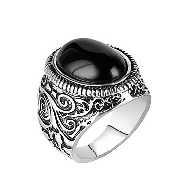 levne Pánské šperky-Pánské Prsten Zásnubní prsten 1ks Černá Pryskyřice Slitina Armáda Dar Denní Šperky Magie Cool
