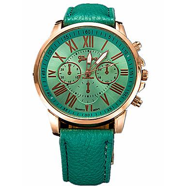 baratos Relógios Senhora-Mulheres Relógio Esportivo Relógio Elegante Relógio de Pulso Quartzo Couro Preta / Branco / Azul Relógio Casual Analógico Casual Fashion - Marron Azul Verde Escuro Um ano Ciclo de Vida da Bateria