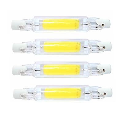 저렴한 LED 튜브 라이트-SENCART 4 개 4 W 튜브 조명 400 lm R7S T 1 LED 비즈 COB 방수 회전가능 밝기조절가능 따뜻한 화이트 차가운 화이트 220-240 V