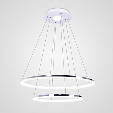 Cirkelrunda Hängande lampor Glödande Rektangulär Metall Akryl LED 110-120V / 220-240V Varmt vit / Vit / Dimbar med fjärrkontroll / FCC