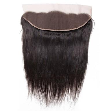 povoljno Ekstenzije od ljudske kose-1 paket Brazilska kosa Ravan kroj Virgin kosa Wig Accessories Kosa potke zatvaranje 8-20 inch Prirodna boja Isprepliće ljudske kose Čipka Klasični Novi Dolazak Proširenja ljudske kose